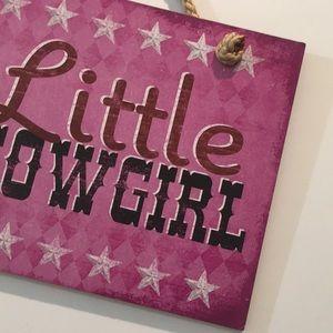 "Wall Art - ""Little Cowgirl"" Wall Decor"
